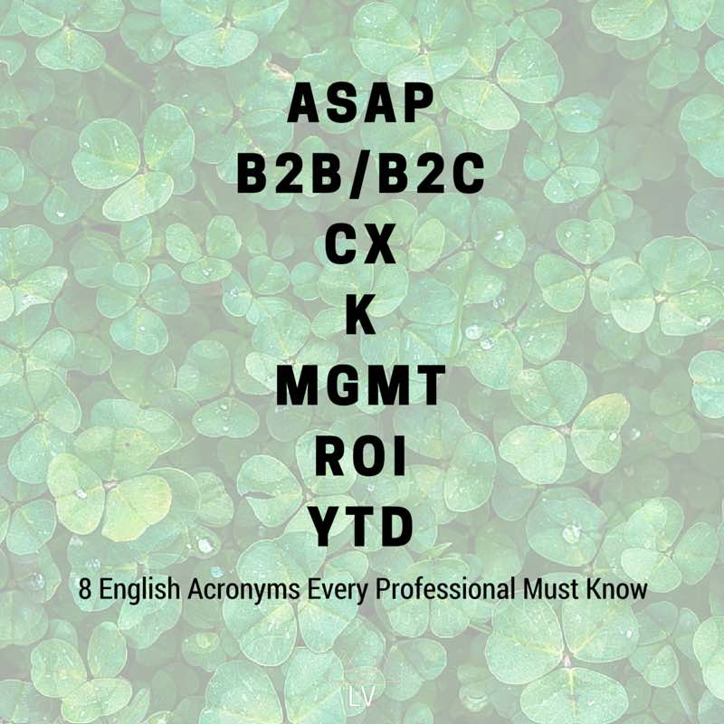 Business English Acronyms